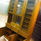 【高級家具・未使用】ダイニングボード(食器棚) サウスオーク天然杢...