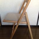 【終了】無印良品MUJI☆ブナ材チェア・折りたたみ式・布座・ナチュラル - 渋谷区