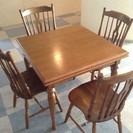 飛騨家具 WINDS 太平 ダイニングテーブル 椅子4脚  現在...