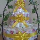 出産祝いにはUショップのおむつケーキを!