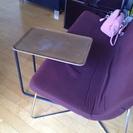 【無印良品 サイドテーブル】スチールパイプサイドテーブル/ブラウン - 家具
