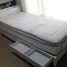 シングルベッド 色:白 【差し上げます】