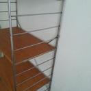 譲ります 無印良品のスチールユニットシェルフ木製棚 - 家具