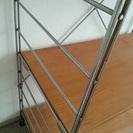 譲ります 無印良品のスチールユニットシェルフ木製棚 − 東京都