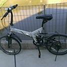 折りたたみ自転車 白色