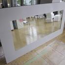 家具 アンティーク 鏡 白