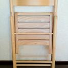 【終了】無印良品★MUJIブナ材チェア・折りたたみ式・板座・ナチュラル - 家具