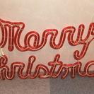 ロープライト MerryChristmas (レッド)完全防雨タイプ - その他