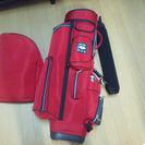 ■新品同様MACEASYマクレガーの赤いゴルフのキャディーバック