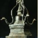 仏塔(ストゥーパ) 青銅 一点もの
