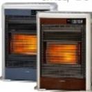 お部屋に燃焼ガスや排気ガスがこもらないクリーン暖房!