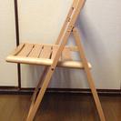 【終了しました】無印良品★MUJIブナ材チェア・折りたたみ式・板座・ナチュラル - 渋谷区