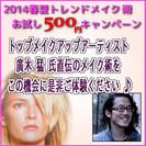 2014春夏トレンドメイク 体験(500円) キャンペーン!