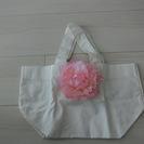 【未使用】お花つきミニバッグ