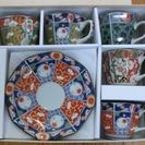 古伊万里 コーヒー碗皿揃  西海陶器