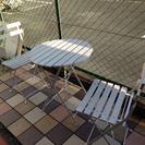 【終了】白いガーデンテーブル