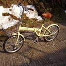 良品 折り畳み自転車 5段変速!