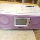 【終了】SONY CDラジオカセットレコーダー♪ピンク!