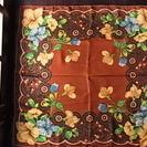 希少なオキュパイドジャパンの手縫いシルクスカーフ