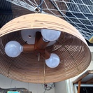 竹製 蛍光灯
