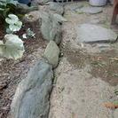 敷石、庭石です。
