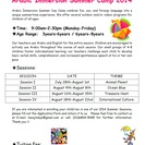 Arabic Immersion Summer Camp 2014!!