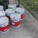20リットルオイル缶 ペール缶 空容器 ゴミ箱やイスに アウトドア