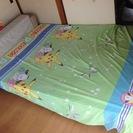 <取引先確定>ダブルベッド マットレス、布団、枕など付き