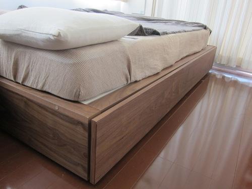 【交渉中】無印良品 収納ベッド・セミダブル・ウォールナット材 中古1年