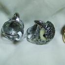 ごっつい鳥の指輪★1個1000円 シルバーアクセサリー ★ 指ぬき...