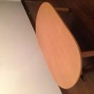 ☆無印良品☆ こたつ付テーブル (タモ材・楕円形) − 東京都