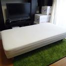 【シングルベッド】無印良品、取り外し可能な脚付きマットレス(シングルサイズ)・4〜5年使用・脚の長さ20cmの画像
