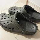 クロックスのサンダル、本物crocs未使用【東区箱崎】