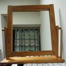 無垢材フレームの鏡