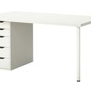 状態良好1年使用 IKEA 5つあり 収納付テーブル学習机パソコン...