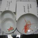 美濃焼 盛り鉢 小皿(2枚) 白箱入 片岡鶴太郎オリジナル