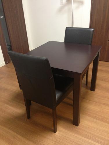 激安ダイニングテーブル椅子4脚2人用と4人用に折りたたみ可能