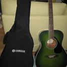 初心者にぴったりのヤマハギター(グリーン)