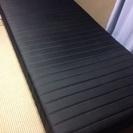難有シングルベッド黒