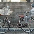 ☆商談中☆ 子供乗せ自転車・前後2名 茶色