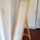 SOLD: スタンドミラー 独立タイプ 木製フレーム 30cm ...