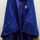 ≪終了≫【レインコート】 フリーサイズ・藍色のお手軽なレインコー...