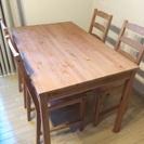 取引完了しました。ダイニングセット テーブル 椅子4脚