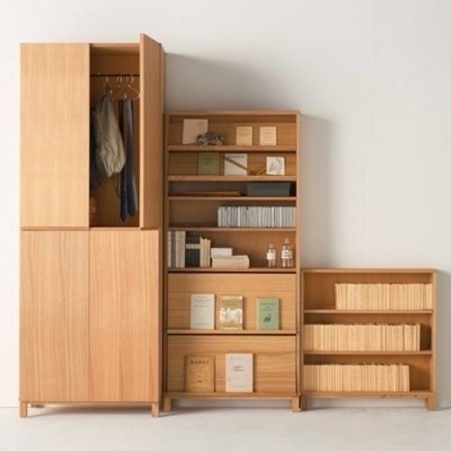 美品 無印良品 本棚木製収納 - 家具