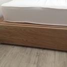 取りに来られる方限定:無印良品収納ベッドシングルオーク材追加台スプリングマットレス - 豊中市