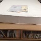 取りに来られる方限定:無印良品収納ベッドシングルオーク材追加台スプリングマットレス - 家具