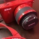 [終了しました] Nikonミラーレスカメラ/赤色/レンズ等付属...