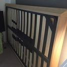 無印良品★セミダブル木製ベッド&ベッド下収納★木製ベッドフレーム下収納・タモ材/ナチュラル 幅80×奥行60.5×高さ19cm  - 家具