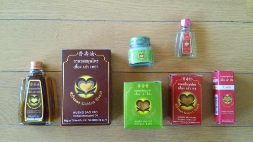 タイのハーブ製オイル、軟膏、吸...