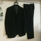 (6)Adelante.EX 大栄既製服 三つボタン スーツ 黒